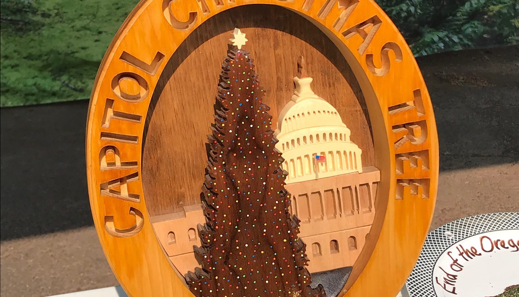 The U.S. Capitol Christmas Tree has been found in an Oregon forest, but it's a secret
