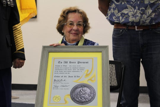 Connie Fields was inducted into the  Order of Saint Joan D'Arc on Saturday.