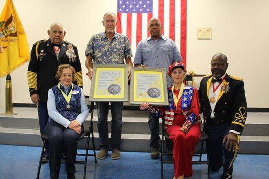 The historic 149th Armor Regiment honored three of its longtime supporters with induction into the Order of Saint Joan D'Arc. Lorraine Diaz, Connie Fields and Normandy Rose were each recognized during the ceremony, which was conducted by Retired Col. Arthur Nichols Jr., Commander of the 149th Armor Regiment.