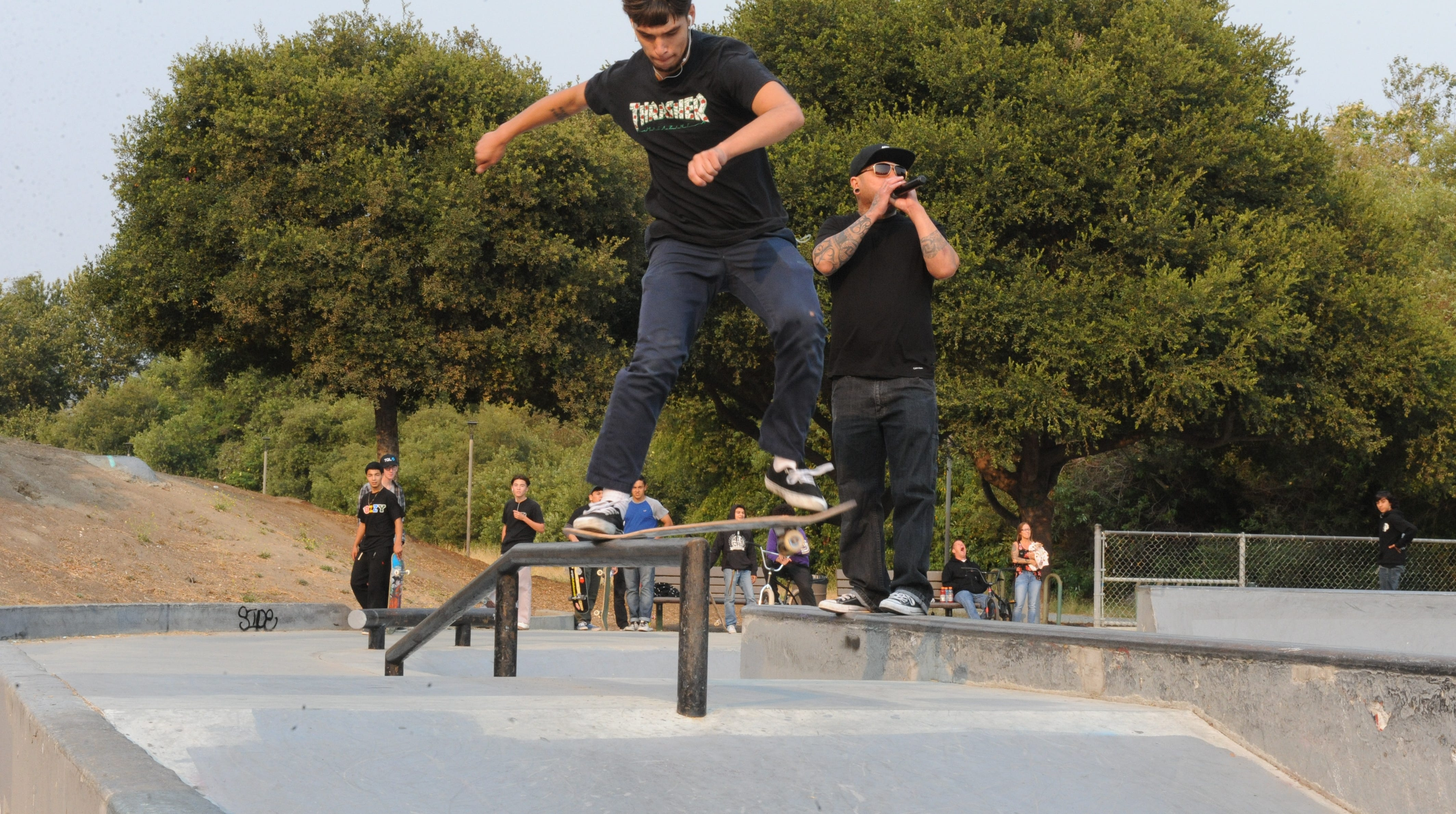 Youth took to Natividad Skate Park as an alternative to National Night Out.