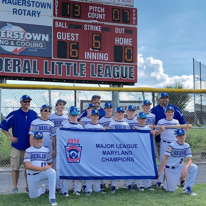 Berlin Little League won the 11-12 Major League Maryland State Championship in Fruitland 6-0. The team now heads to Bristol, Connecticut,  to play for the Mid-Atlantic Championship Sunday against Delaware. submitted image