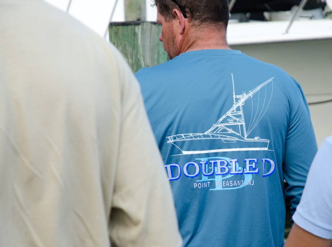 The 3rd day of the 45th Annual White Marlin Open in Ocean City, Md.  The crew aboard the Double D has brought in a qualifying Tuna weighing in at 52 pounds on Wednesday, August 8, 2018