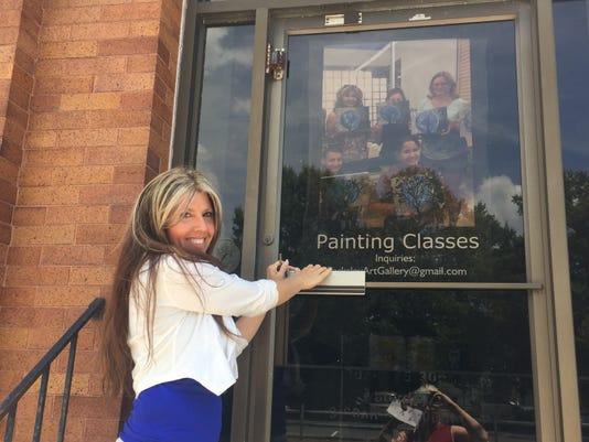Julie Nash at Parksley art gallery
