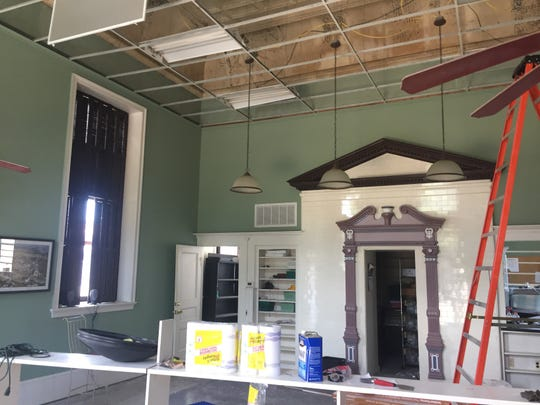 This former bank building in Parksley, Virginia, seen on Thursday, July 29, 2018, is being renovated and will become an art gallery operated by Julie Nash.