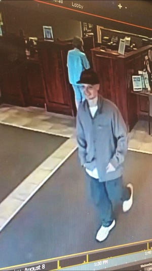 Authorities say this man attempted to rob a bank near E. 10th Street and Sneve Avenue.