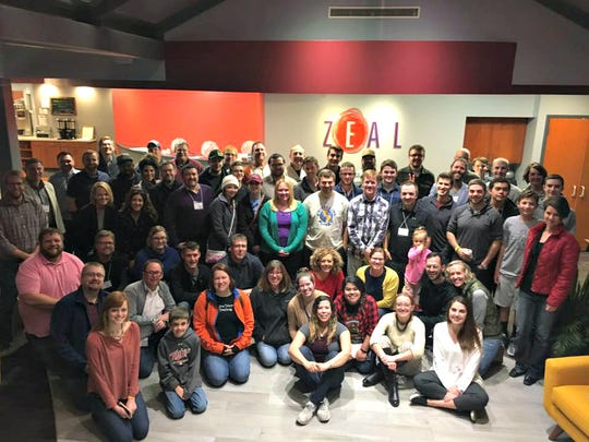 Attendees at the 2017 Startup Weekend at the Zeal Center for Entrepreneurship in Sioux Falls.