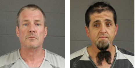 William Lowell Calkins (left) and Roy Charles Hampton escaped from the community correction center in Sioux Falls on Wednesday morning.