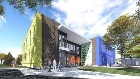 An artist rendering for South Dakota's new School for the Blind and Visually Impaired, expected to open in fall 2019.