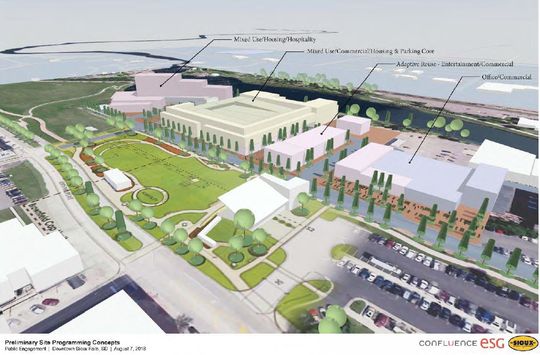 Early conceptual designs for the Sioux Steel site in downtown Sioux Falls