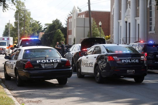 Springfield police responded to a scene Wednesday at Jefferson Avenue and Cherry Street.