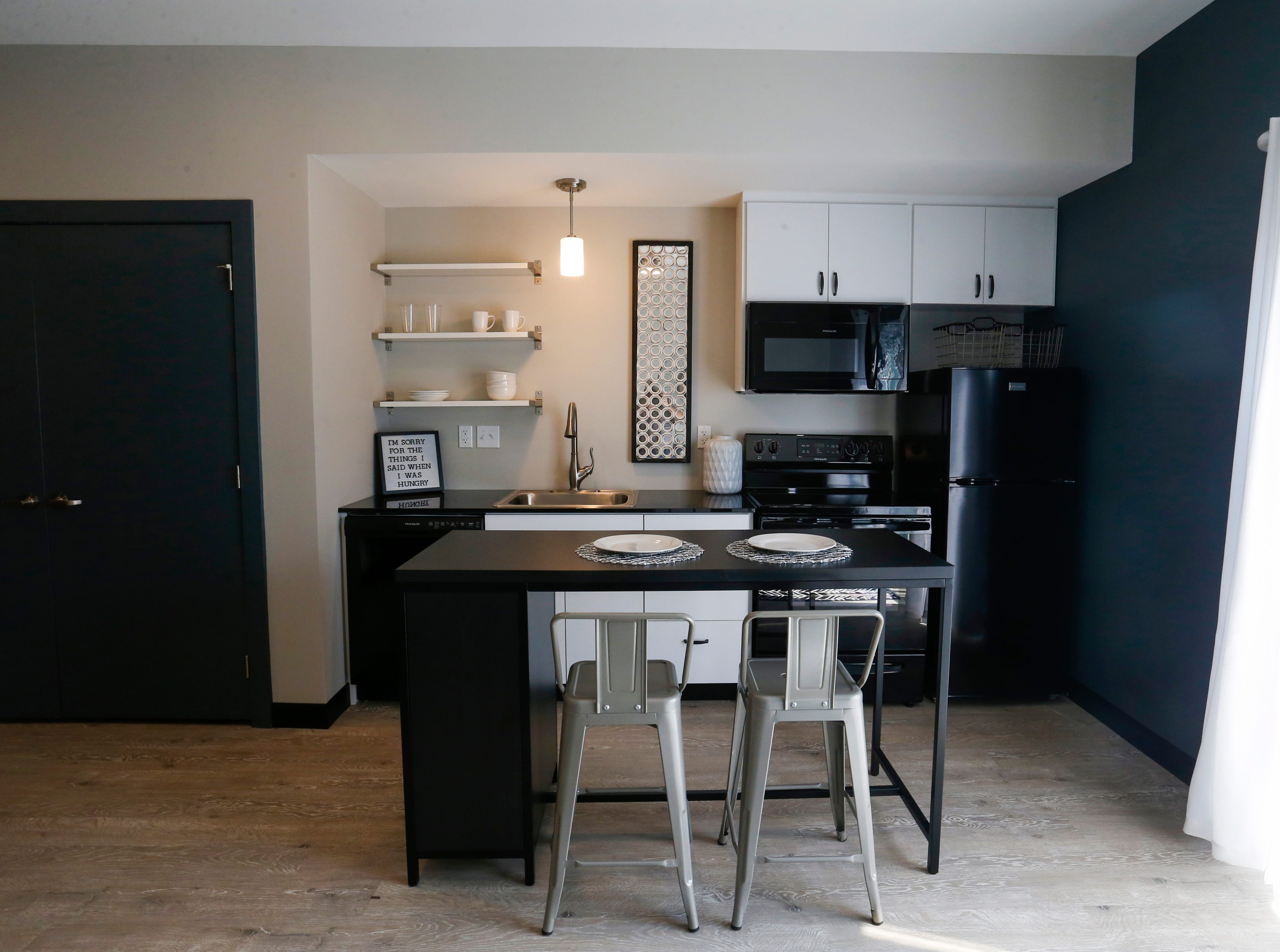 The Boomer Town studios at 824 S National Ave., across from MSU, are already 80 percent full. There are 70 micro-efficiency studio apartments, which are less than 400 square feet, in the development.