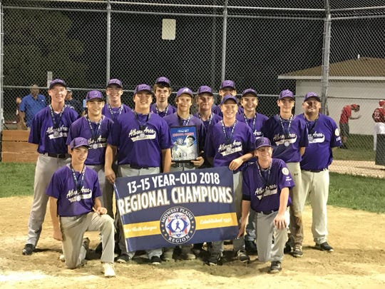 Albany is all smiles after winning the Mdiwest Regional in Junction City, Kansas, to earn its berth in the Babe Ruth 15U World Series.