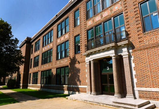 St. Cloud Technical High School is shown Wednesday, Aug. 8, near Lake George. The city is hosting a public redevelopment open house Monday at Tech to view the design concepts.