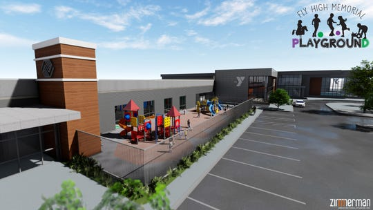 The Fly High Memorial Playground planned for the South Wood County YMCA and Boys & Girls Club in Wisconsin Rapids.