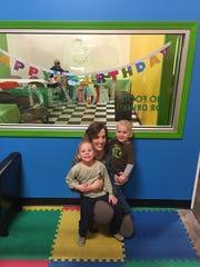 Amanda Bohn and her children Paige and Devon