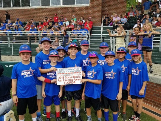 Florida wins 2018 Social Media Fan Favorite at Tournament of State Champions in Greenville, NC.