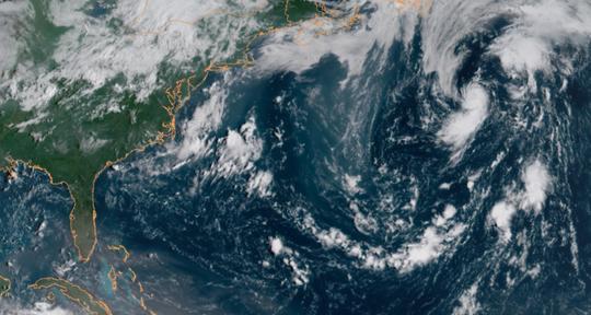 Tropical Storm Debby Aug. 8, 2018.
