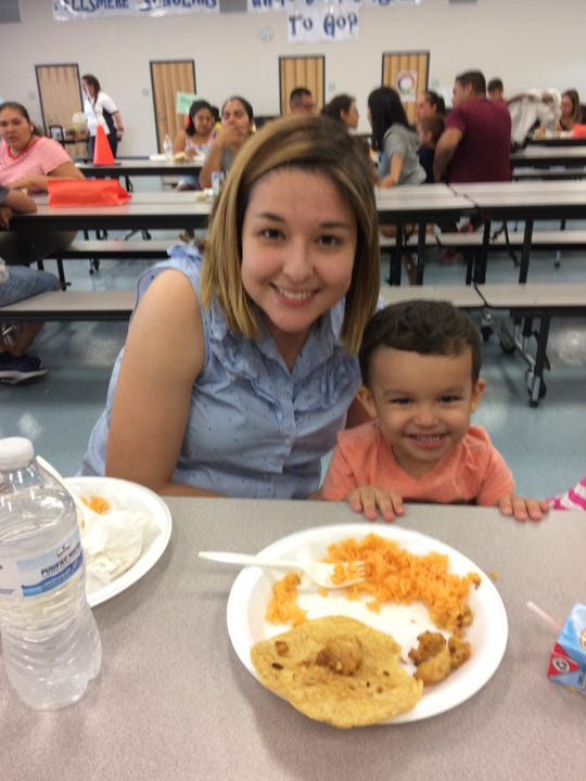 Anali and Xander Vierya at a Kindergarten Readiness Collaborative event.