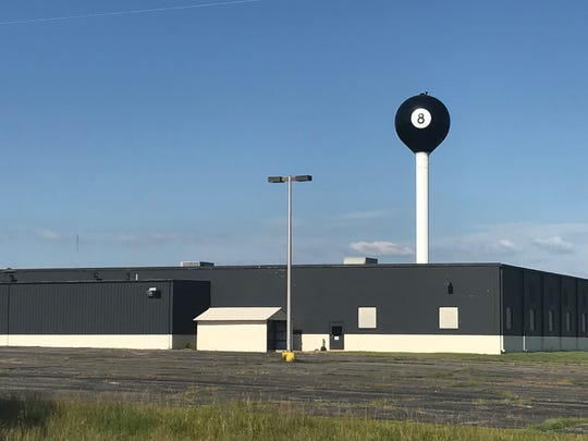 The world's largest eight ball is in Tipton, Missouri. The water tower is next to a former pool table factory along Highway 50.