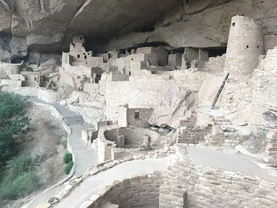 Cliff Palace, with about 150 rooms, is the largest cliff dwelling in Mesa Verde National Park in Colorado. Ancestral Puebloans built this home in the 1200s. It's one of about 600 cliff dwellings preserved in the park.