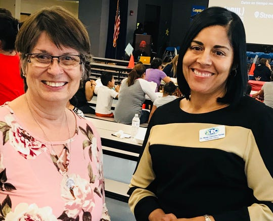 Susan Roberts and Dr. Nivea Torres at a Kindergarten Readiness Collaborative event.