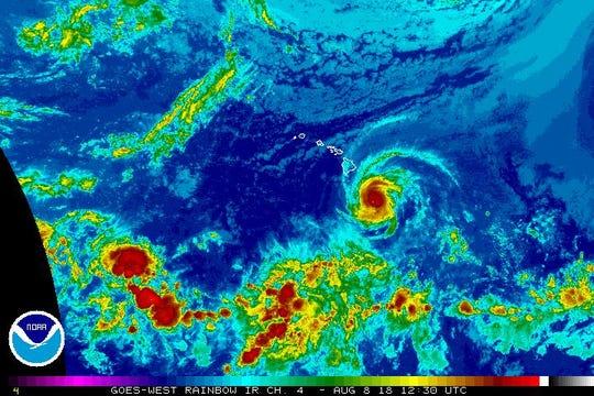 Hurricane Hector 8 a.m. Aug. 8, 2018