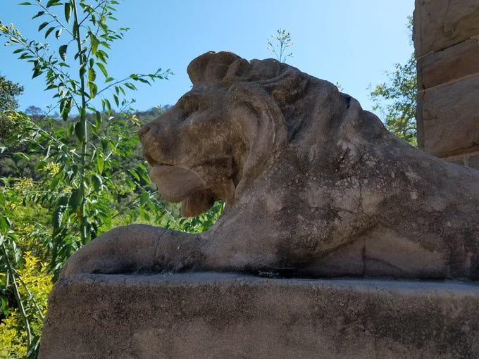 The lion monument is at the entrance to Foster Park, which was established in 1908. The town of Foster Park sprang up near the park itself and was home to about 60 families, two markets, a dance hall, a gas station and a restaurant. Like Tortilla Flats near the Ventura County Fairgrounds, the town of Foster Park was demolished when a freeway came through in the 1960s.