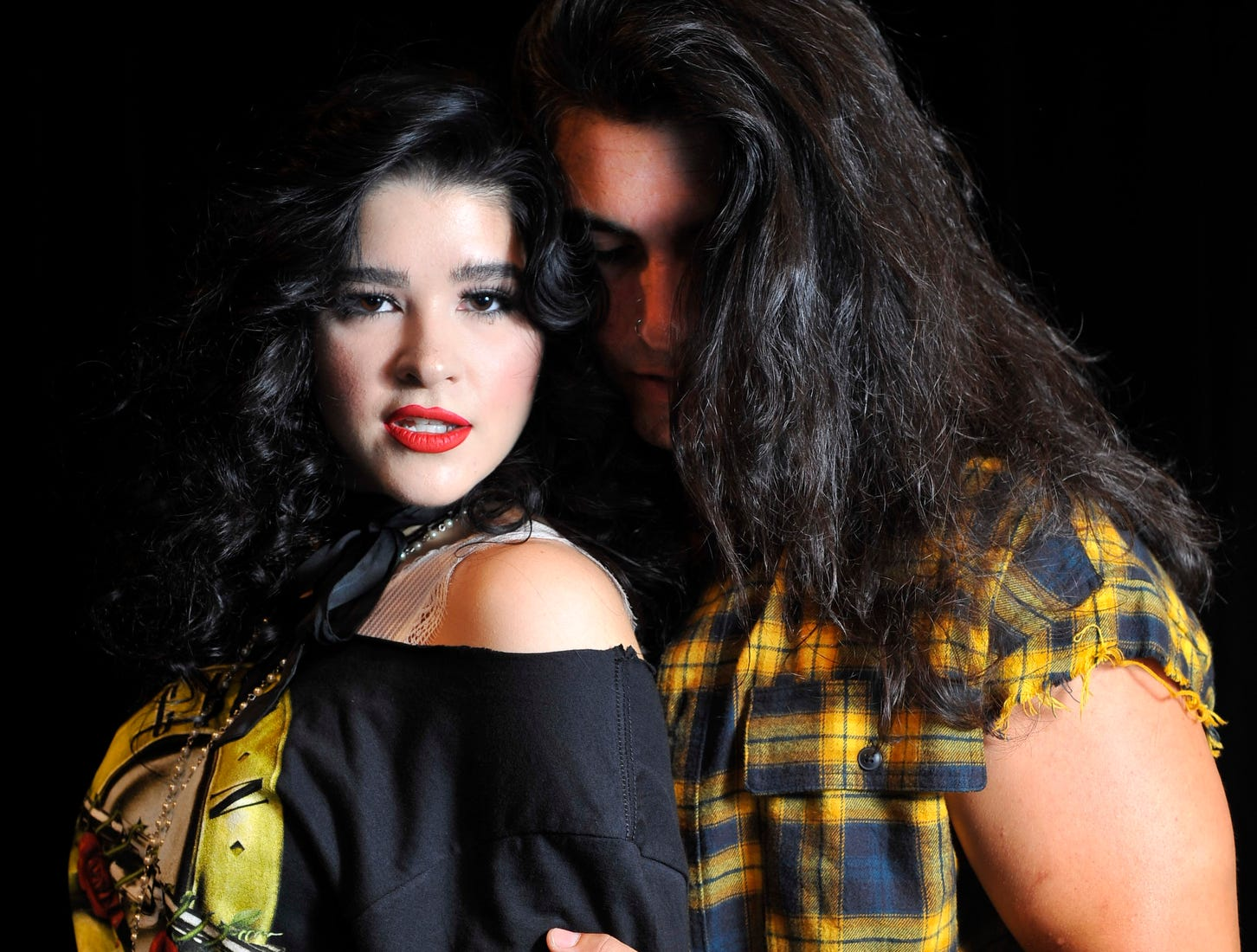 "Rebekeah Robles and Mat Cantu star in the Fourth Wall Theatre's  ""Rock of Ages."""