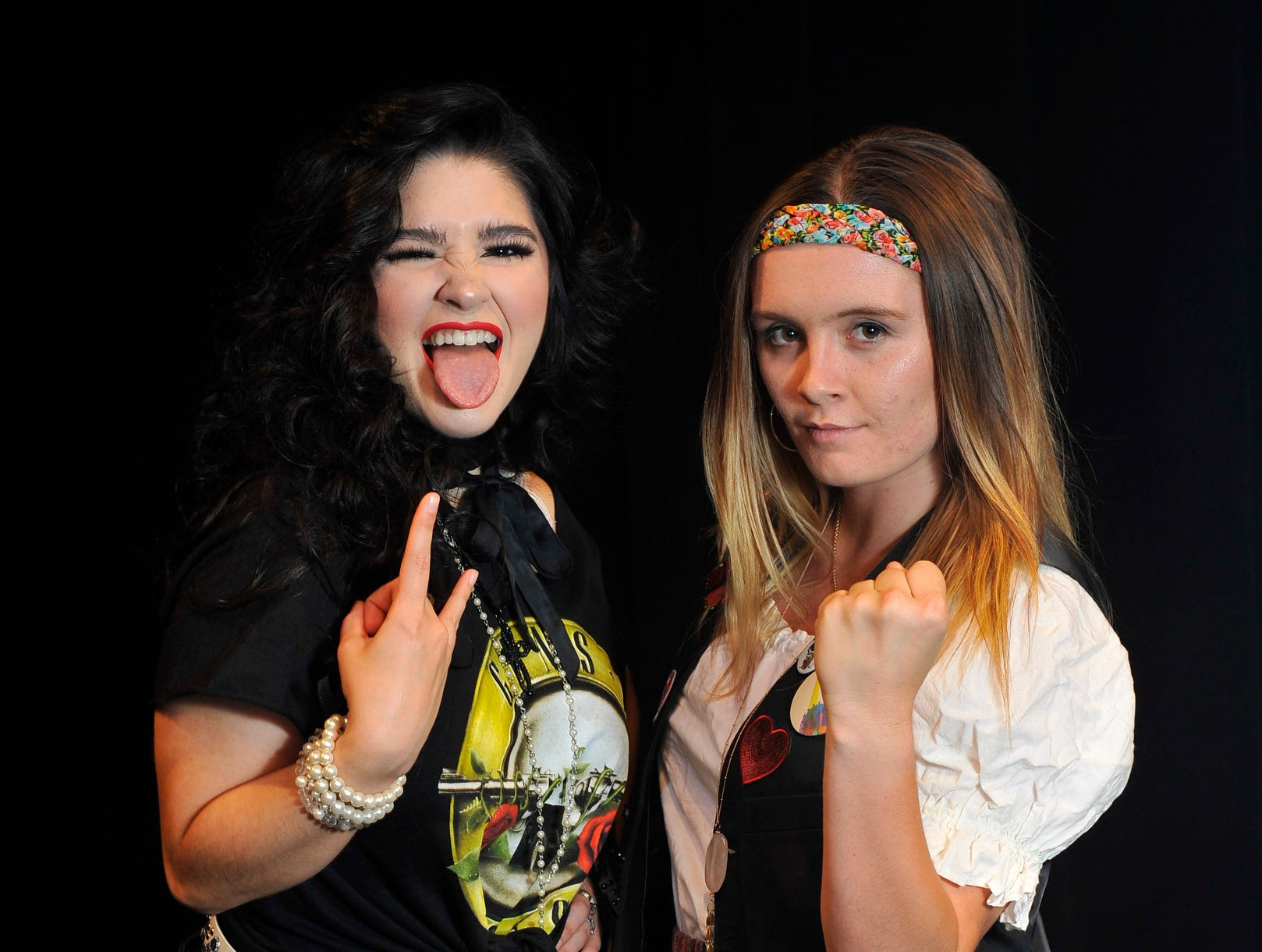 "Rebekeah Robles and Carly Caviglia star in the Fourth Wall Theatre's  ""Rock of Ages."""
