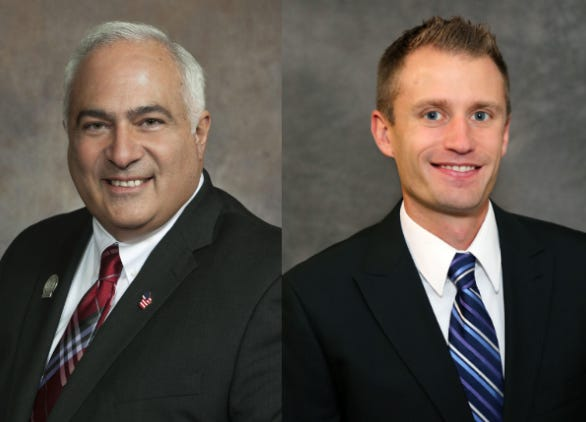 Rep. John Spiros (left) and Brent Jacobson (right) will vie for the Republican nomination for Wisconsin's 86th Assembly District.