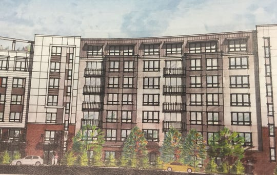 Rendering of Seven-story apartment building proposed for Hale Avenue in White Plains.