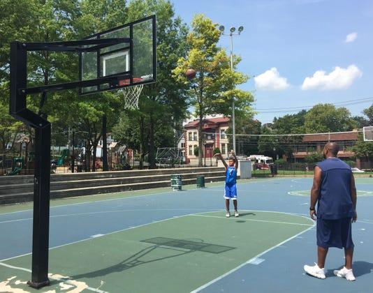Lincoln Park basketball courts