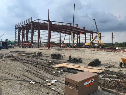 The current state of the site that is to be the 76ers Fieldhouse in Wilmington. The five-story, 140,000-square-foot facility will sit on 8.9 acres owned by the Wilmington Riverfront Development Corporation where South Market Street (U.S. Route 13) and Garasches Lane intersect.