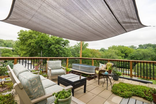 The third-floor green space at 1521 N. Adams St. uses a parasail for shade and overlooks the Brandywine.