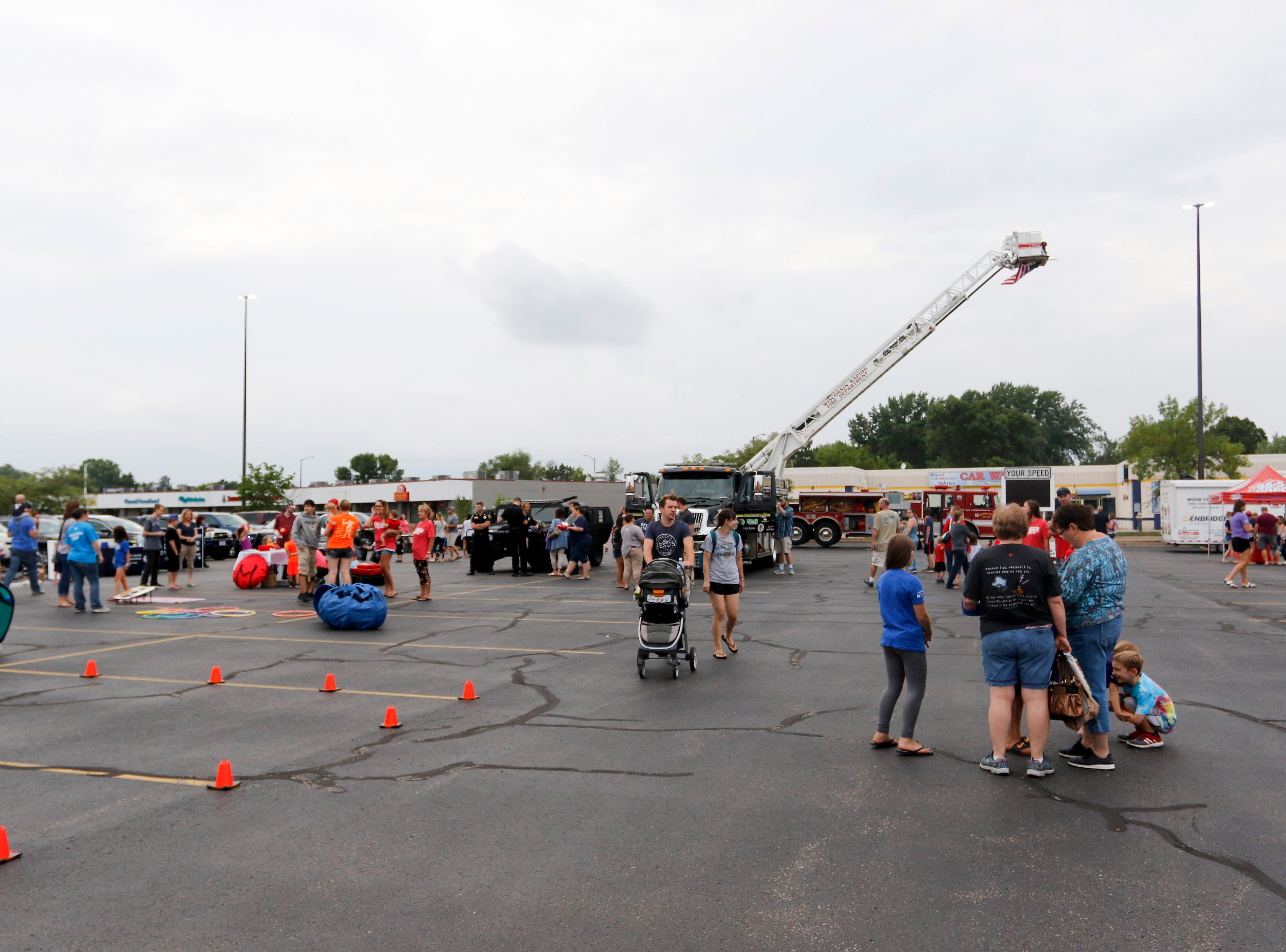 About 600 people attended the National Night Out event put on by the Wisconsin Rapids Police Department in the Crossview Church parking lot in Wisconsin Rapids Tuesday, August 7, 2018.