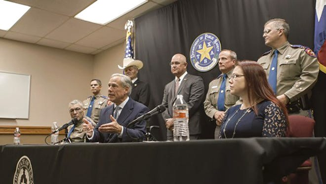 """Texas Gov. Greg Abbott announces Tuesday the """"Damon Allen Act,"""" a set of proposals to reform the bail system in Texas."""