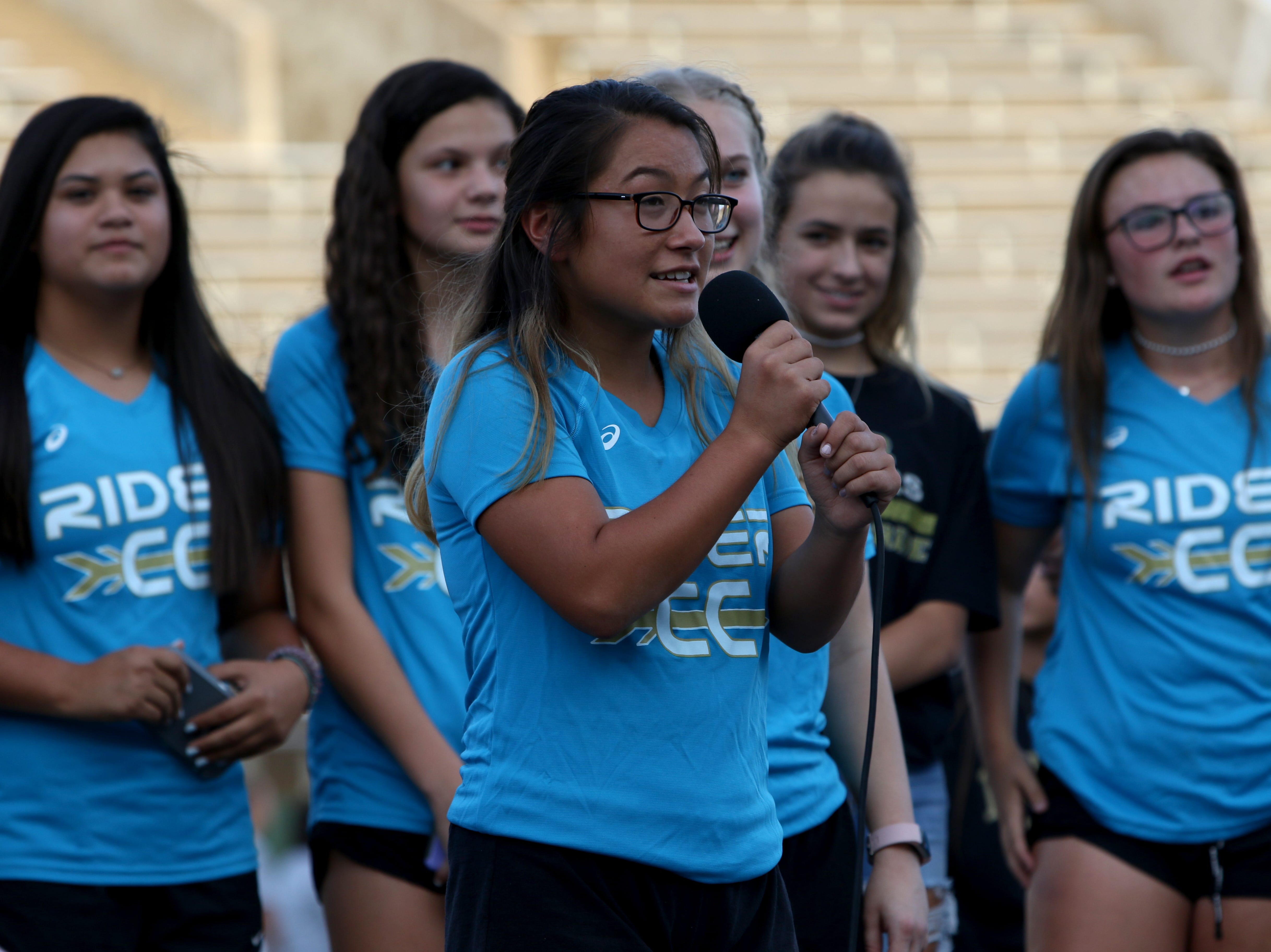 At the WFISD Fan Fest students were able to talk about the upcoming season Tuesday, Aug. 7, 2018, at Memorial Stadium.