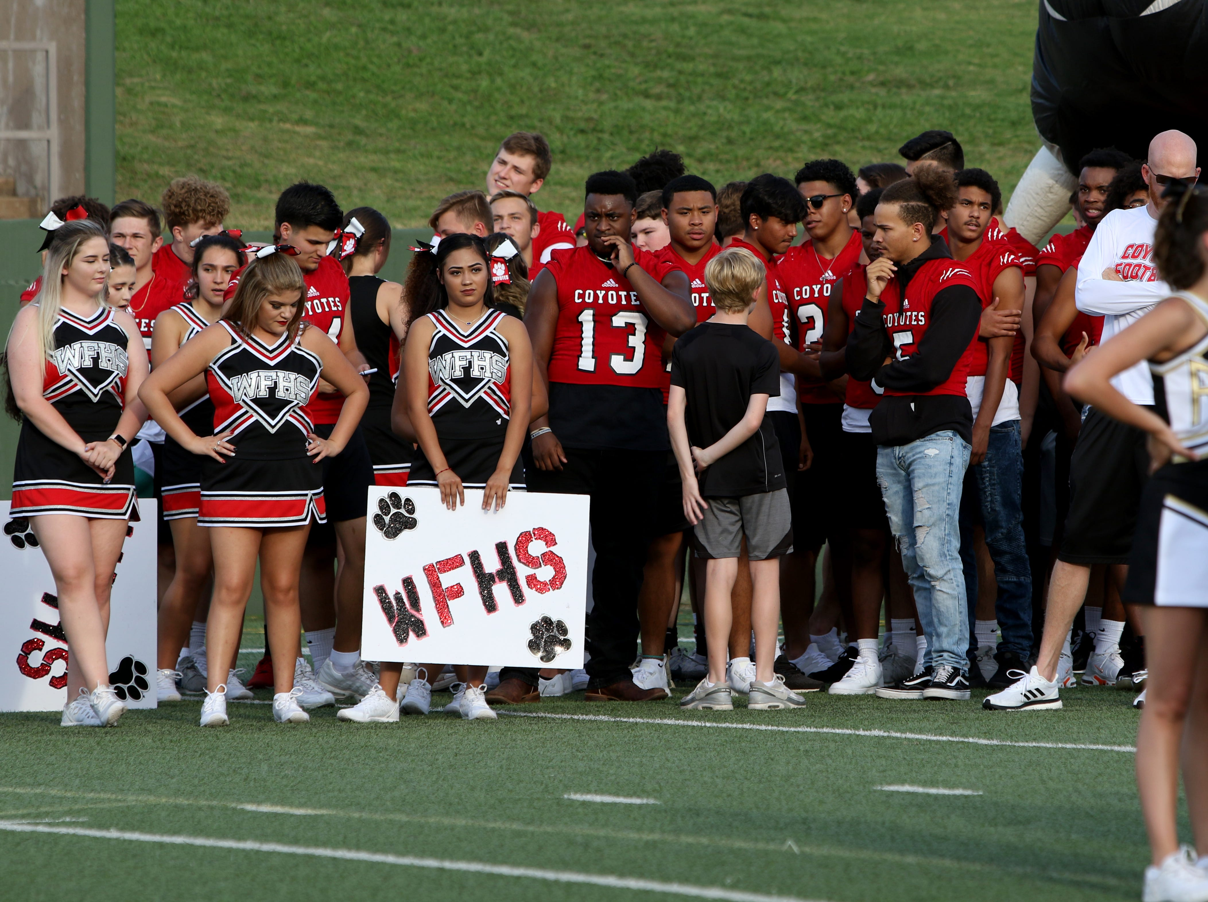 at the WFISD Fan Fest Tuesday, Aug. 7, 2018, at Memorial Stadium.