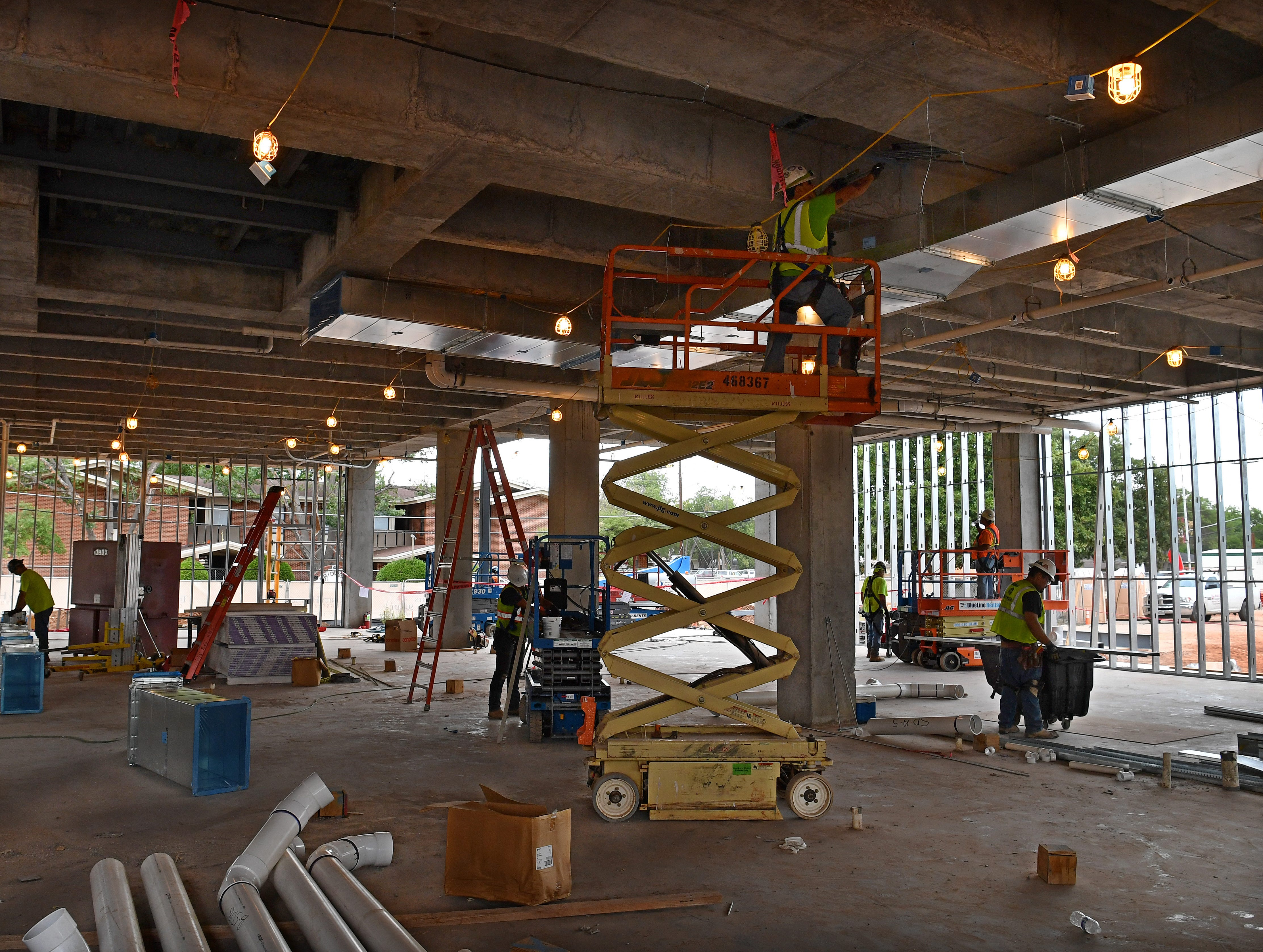 Construction on the Midwestern State University Health Sciences and Human Services building is on schedule and should be in the dry by mid December.