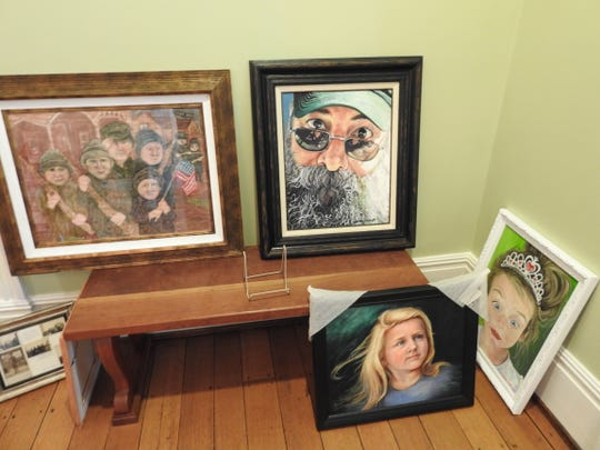 A selection of work that will be part of the Coshocton Art Prize Exhibit opening Friday at the Pomerene Center for the Arts, part of the Coshocton Arts Homecoming.