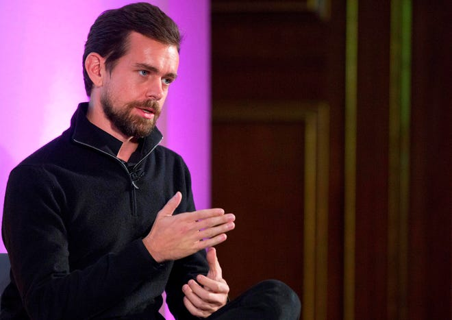 In this file photo taken on November 20, 2014, a founder of Twitter, holds an event in London.