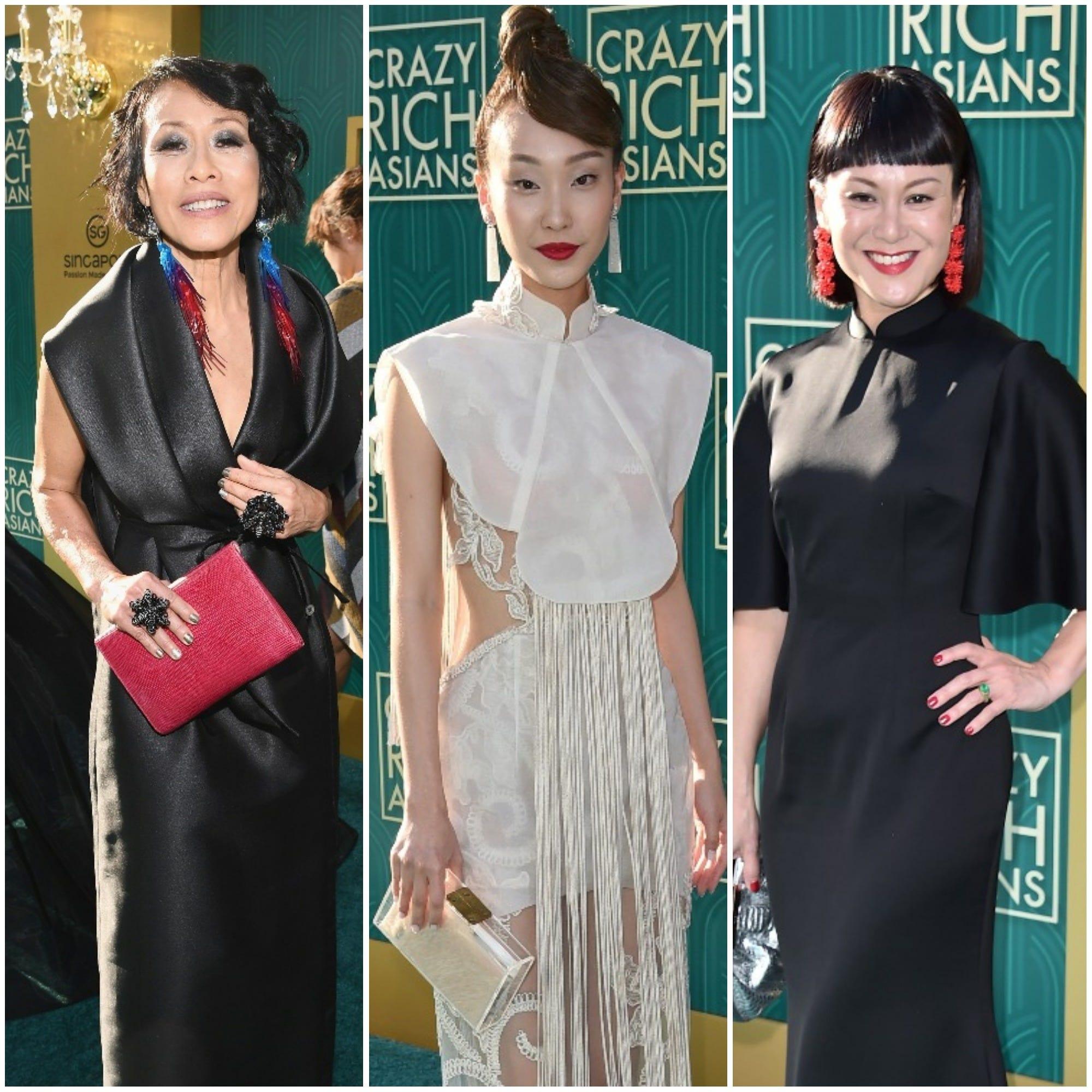 'Crazy Rich Asians' premiere fashion: Asian designs shine on couture carpet