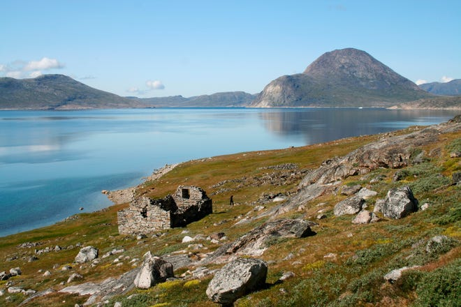 This 2009 photo provided by Christian Koch Madsen shows the ruins of the Hvalsey Church, part of an abandoned Viking colony, in southern Greenland. For almost five hundred years, the Norse descendants of Erik the Red built churches and manor homes and expanded their settlements on the icy fringes of European civilization.