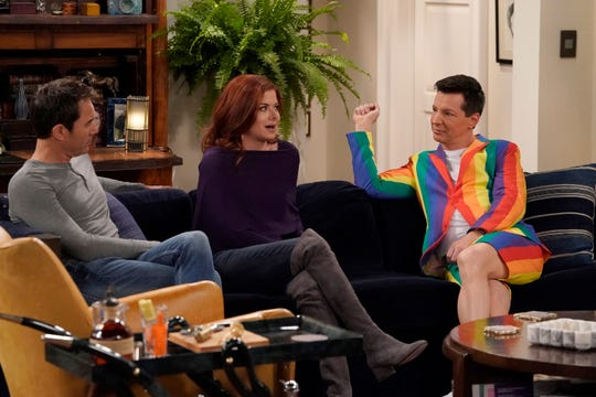 Eric McCormack, left, Debra Messing and Sean Hayes star in NBC's 'Will & Grace.'