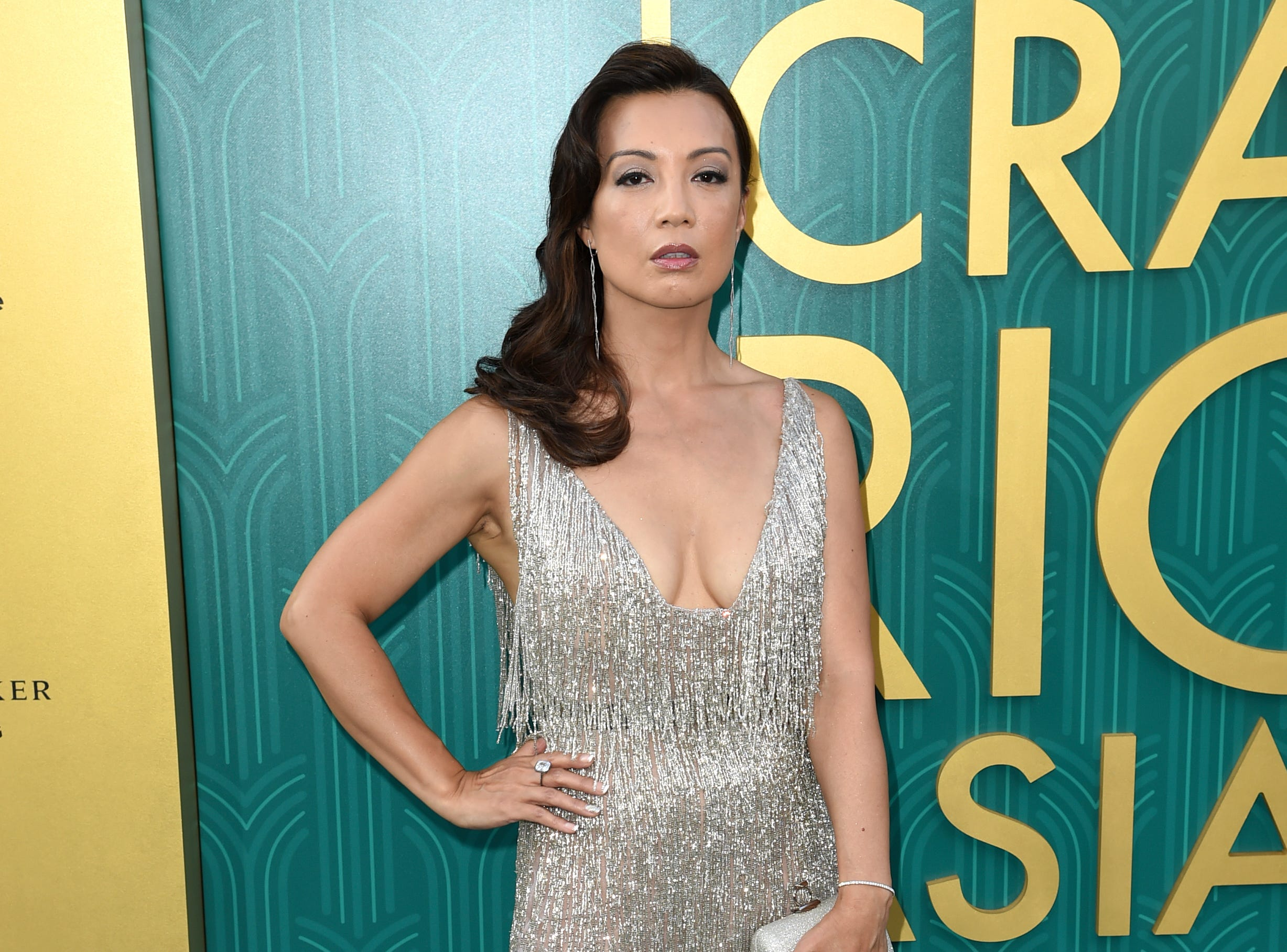 "Ming-Na Wen looked elegant in a flapper-inspired cocktail dress at the premiere of ""Crazy Rich Asians."""