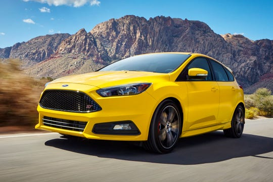 The 2018 Ford Focus ST. The Focus ST comes with a 252-horsepower turbocharged engine.