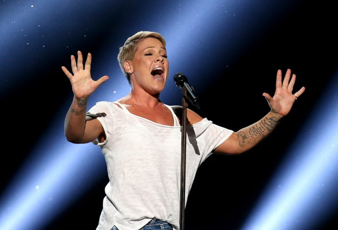 """Pink was admitted to a Sydney hospital on Monday, Aug. 6, with a virus, forcing her to postpone a second show, her promoter said. The singer's """"Beautiful Trauma"""" world tour's first concert in Sydney was scheduled for last Friday, but she canceled that show on doctor's orders."""