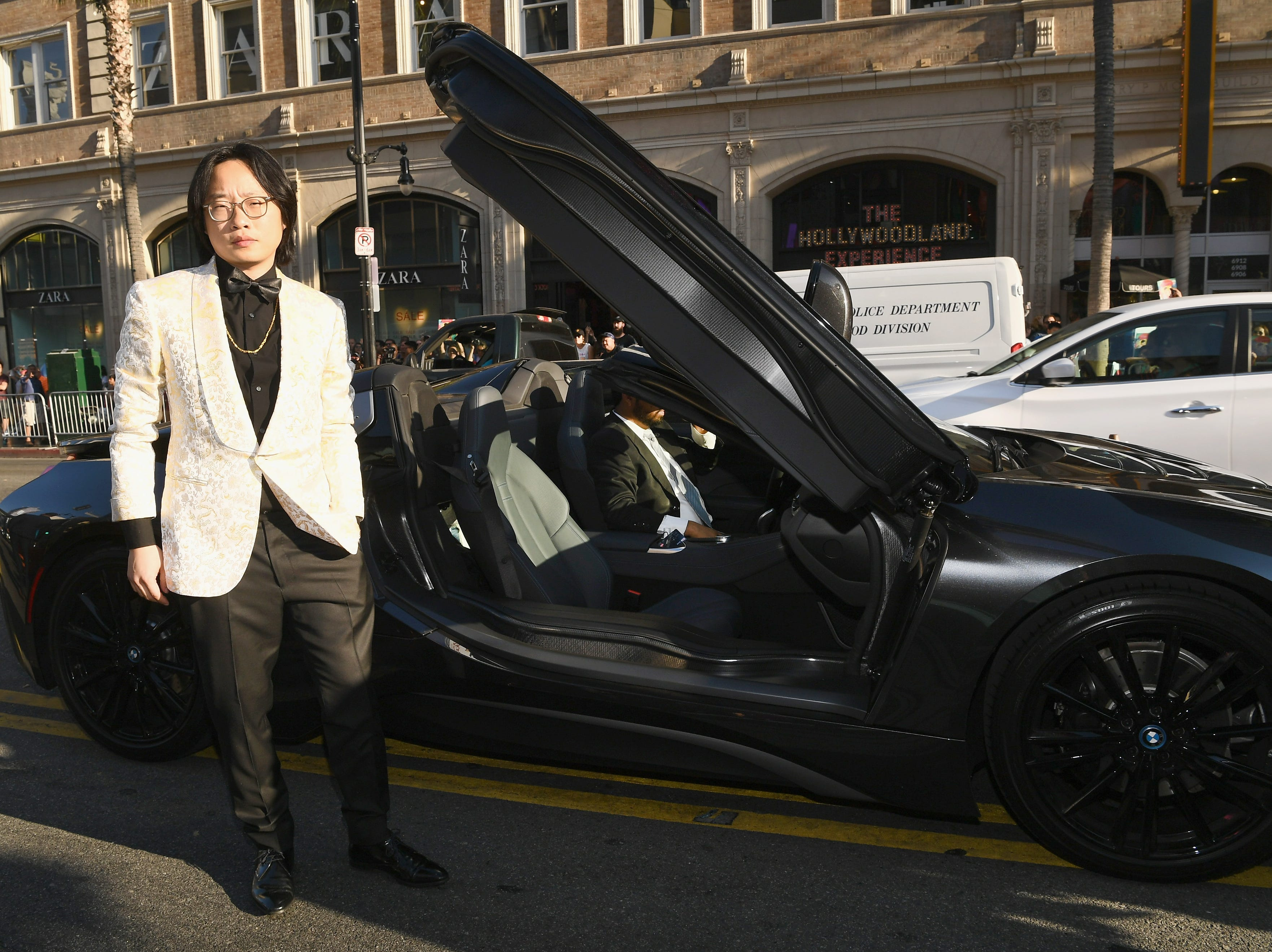 "Actor and comedian Jimmy O. Yang pulled up to the red carpet in a car that looks like it is straight out of ""Crazy Rich Asians."""