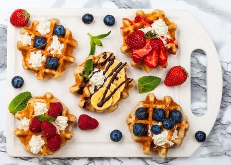 Waffles for dinner? Why not. For a special school year's eve meal try breakfast for dinner.