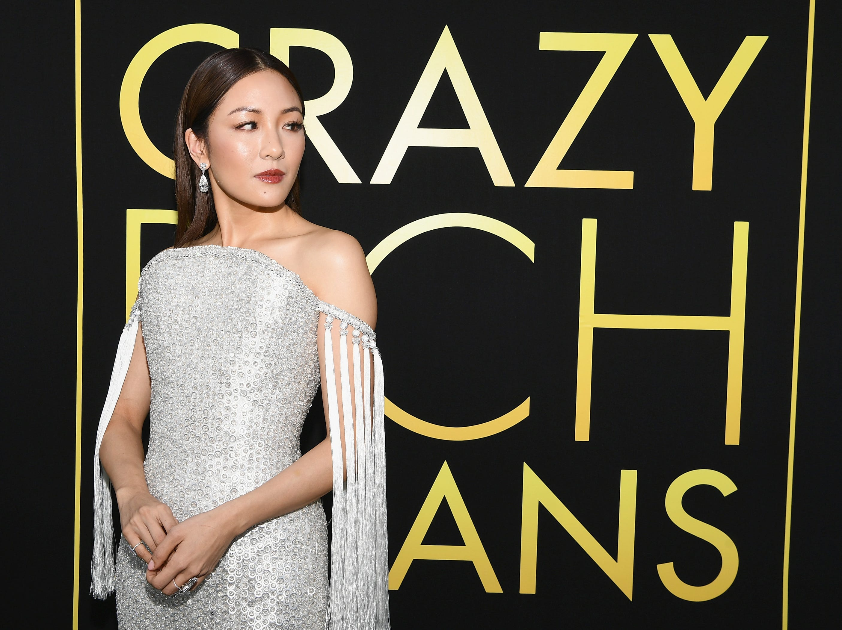 """The fabulous cast of """"Crazy Rich Asians"""" shut down the TCL Chinese Theatre with their looks on August 7, 2018 ahead of the film's Aug 15 premiere. Constance Wu will star in the first Hollywood studio film centered on an Asian-American character's story in over 25 years."""